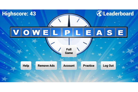 Vowel Please! - Countdown game - Android Apps on Google Play