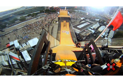 GoPro HD: X Games 17 - BMX Big Air Crash with Chad Kagy ...