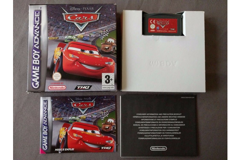 CARS QUATRE ROUES pour Nintendo Gameboy Advance Disney ...