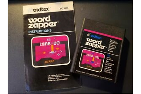 USED Atari 2600 - Word Zapper game cartridge & manual ...