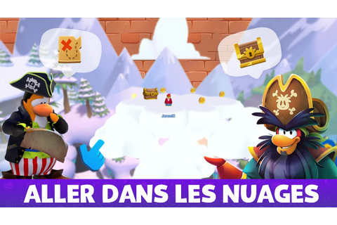 Atteindre le nuage secret - L'Île de Club Penguin - YouTube