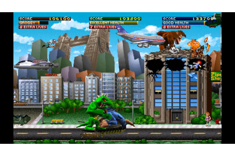 Rampage World Tour arcade 3 player Netplay 60fps - YouTube