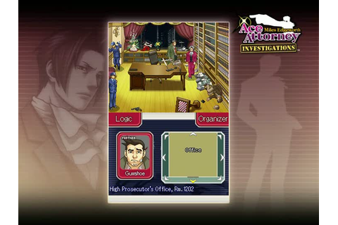 Gameplay Ace Attorney Investigations : Miles Edgeworth : Gameplay ...
