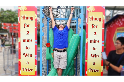 Hang Challenge is the HARDEST Carnival game ever!! - YouTube
