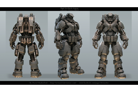 High tech Battle Armour codename Chimera MK-II by Avitus12 ...
