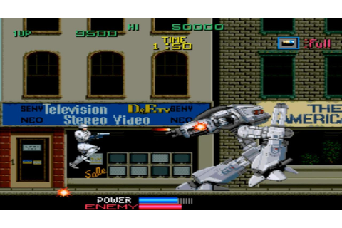 Robocop 1 Arcade Gameplay Playthrough longplay - YouTube