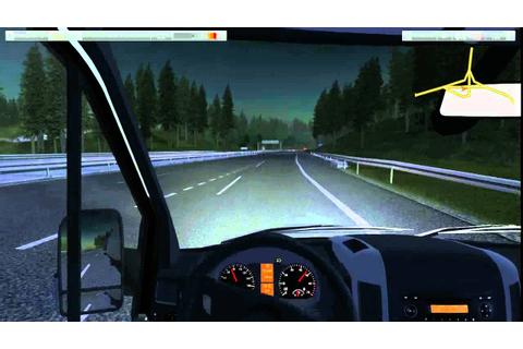 German Truck simulator Mercedes Sprinter - YouTube