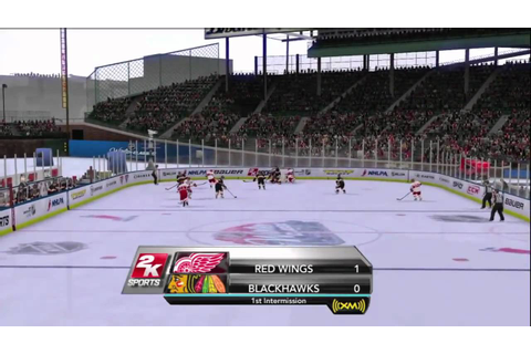 NHL 2K10 - Winter Classic at Wrigley Field Period 1 - YouTube