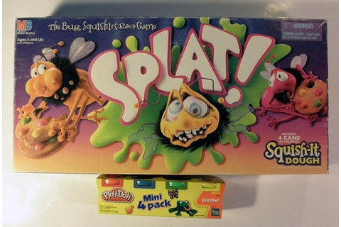 Splat Bug SQUISHIN Play-Doh Board Game 1990 w by ...