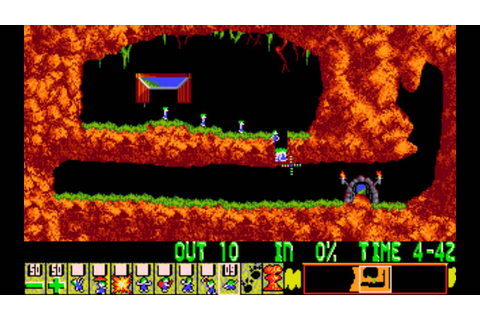 Lemmings [PC] - Level 1: Just dig! - YouTube