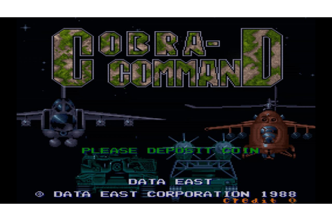 Cobra-Command (Arcade Game Intro) - YouTube