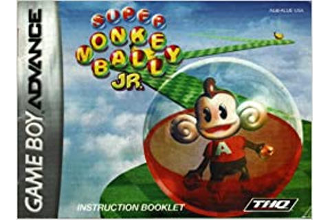 Super Monkey Ball Jr GBA Instruction Booklet (Game Boy ...