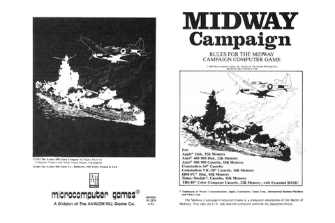 Atari 400 800 XL XE Midway Campaign : scans, dump ...