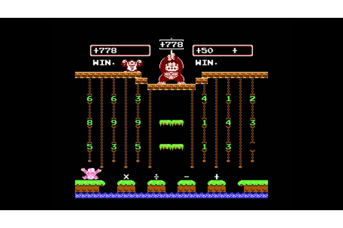 Donkey Kong Jr. Math : 5 - Win Game B - YouTube