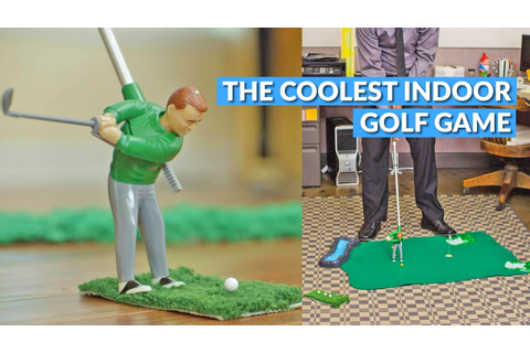 Mini Golfing Man Indoor Golf Game - YouTube