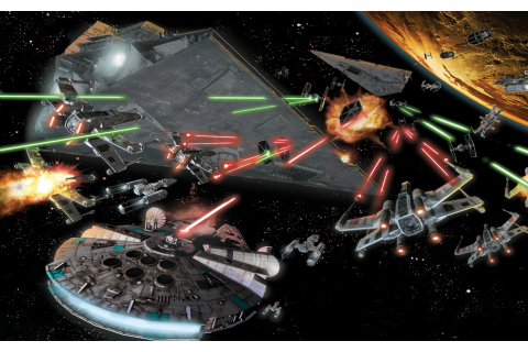 Star Wars Space Battle In Space Space Combat Aircraft ...