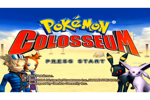 Pokemon Colosseum HD [ Intro Title Screen ] - YouTube