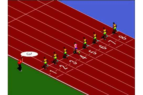100 meters sprint game (The Olympics Championship) - YouTube