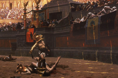Depiction-of-Gladiator-games-by-Jean-Leon_Gerome_Pollice ...
