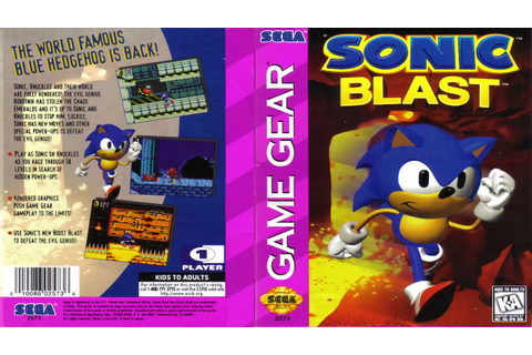 Sonic Blast Bonus Level (Sega Game Gear/Master System ...