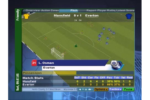 (PS2) Championship Manager 2006 [Gameplay] [pcsx2] - YouTube