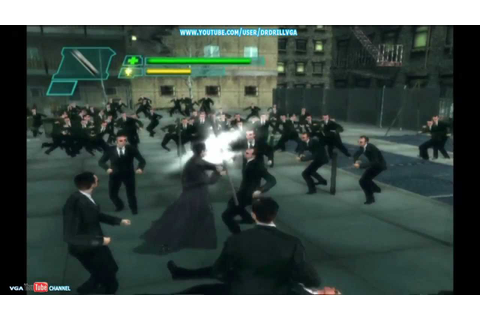 The Matrix Path Of Neo Xbox Gameplay Neo Vs Lots Of Agent ...