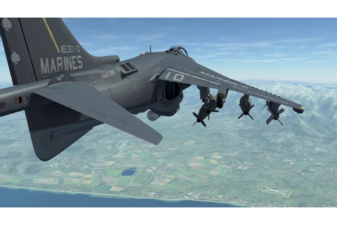 Digital Combat Simulator Harrier MK83 CCIP - YouTube