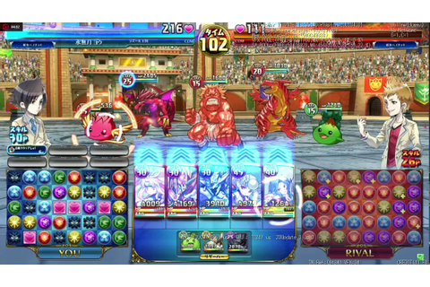 Puzzle and Dragons arcade gameplay - YouTube