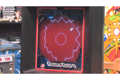 Classic Game Room - COSMIC CHASM review for Vectrex - YouTube