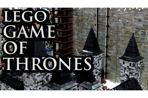 LEGO Castle Black / The Wall | Game of Thrones ...