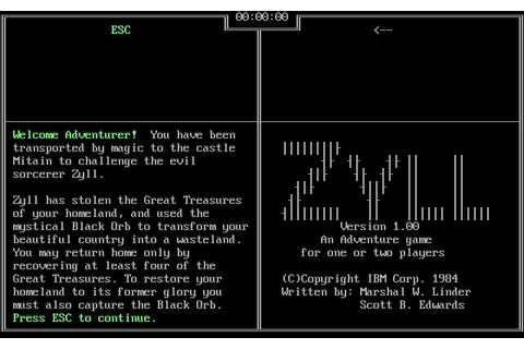 Download Zyll adventure for DOS (1984) - Abandonware DOS