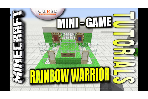 Minecraft PS4 - RAINBOW WARRIOR MINI - GAME - How To ...