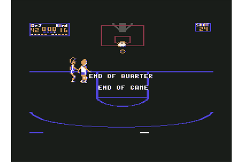 One on One: Julius Erving and Larry Bird - C64-Wiki