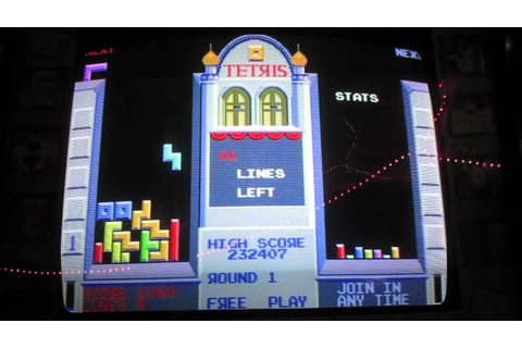 Atari Tetris Arcade Game Review - Cabinet - 1988 - YouTube