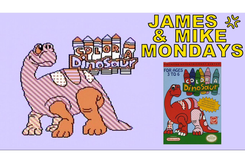 Color a Dinosaur (NES Video Game) James & Mike Mondays ...