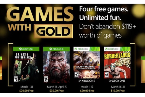 Games with Gold March 2016 confirms another great month ...