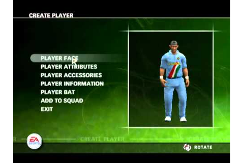 how to make player face in cricket 07 game - YouTube