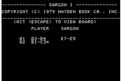 Download Sargon (Apple II) - My Abandonware