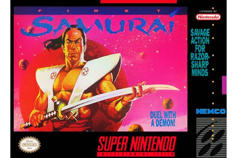 First Samurai SNES Super Nintendo