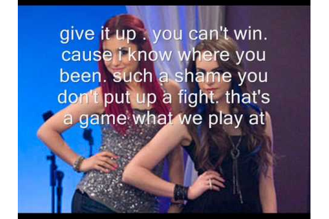 Jade West und Cat Valentine - Give it up lyrics - YouTube