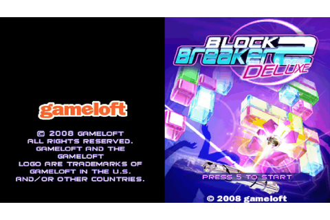 "Block Breaker Deluxe 2 Music (Gameloft) ""Game Over"" - YouTube"