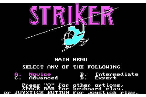 Download Striker shooter for DOS (1985) - Abandonware DOS