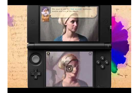 3DS: New Art Academy - Girl with Headscarf Tutorial - YouTube