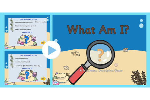 Under The Sea What Am I Interactive PowerPoint Game With ...