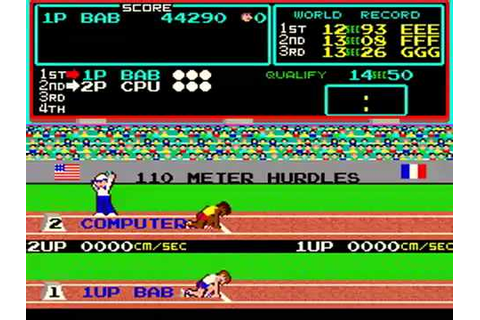 Hyper Olympics Vers.1 [1983] KONAMI (Arcade game) - YouTube