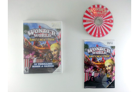 Wonder World Amusement Park game for Wii (Complete) | The ...