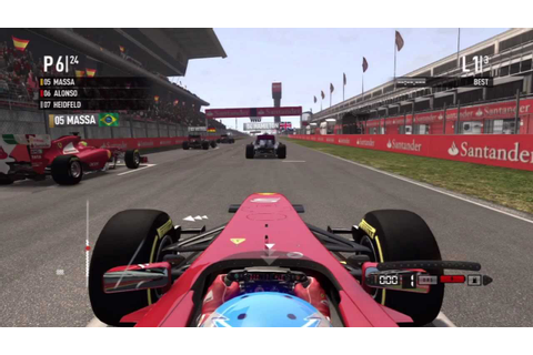 F1 2011 Game HD - Spanish Grand Prix - YouTube