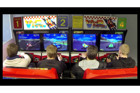 Virtua Racing Arcade 4 players - in Game - YouTube