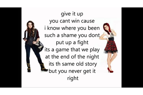 victorious give it up lyrics - YouTube