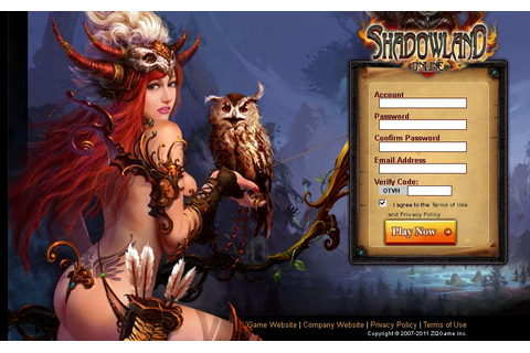 Shadowland online browser game